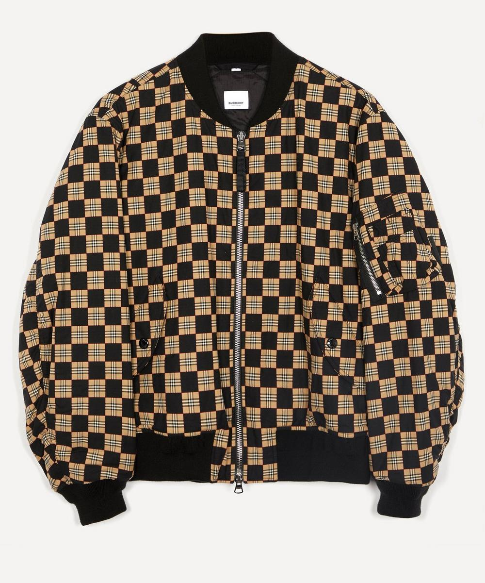 Burberry - Brookland Checkerboard Bomber Jacket