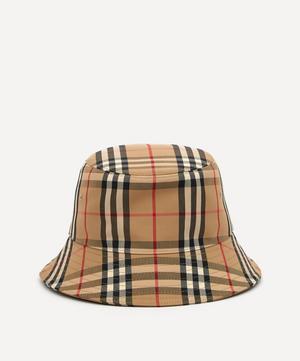 Vintage Check Cotton-Blend Bucket Hat