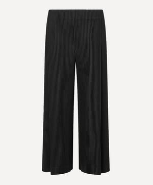 Wide-Leg Pleated Trousers