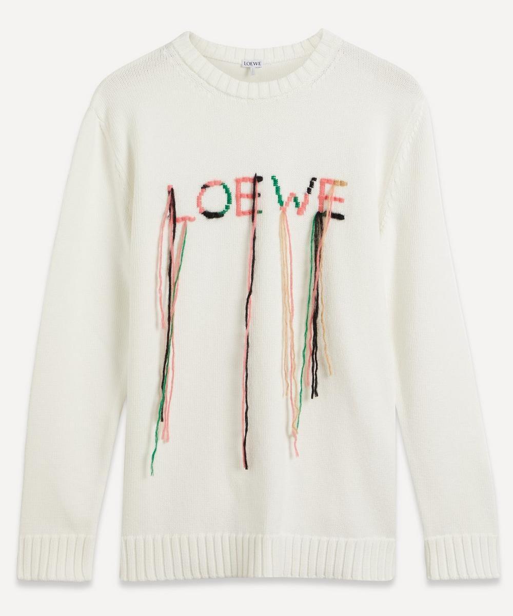 Loewe - Loose-Stitch Embroidered Logo Sweater