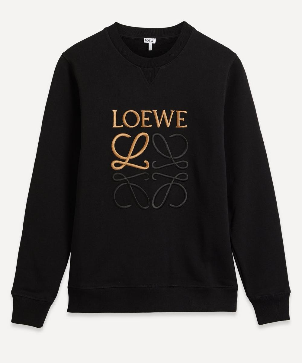 Loewe - Anagram-Embroidered Cotton Sweatshirt