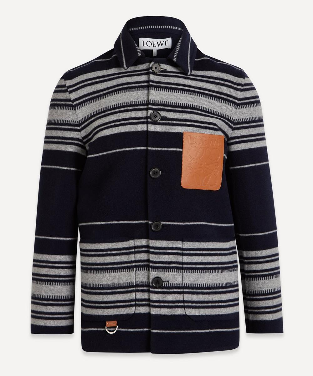 Loewe - Stripe Cashmere-Wool Worker Jacket