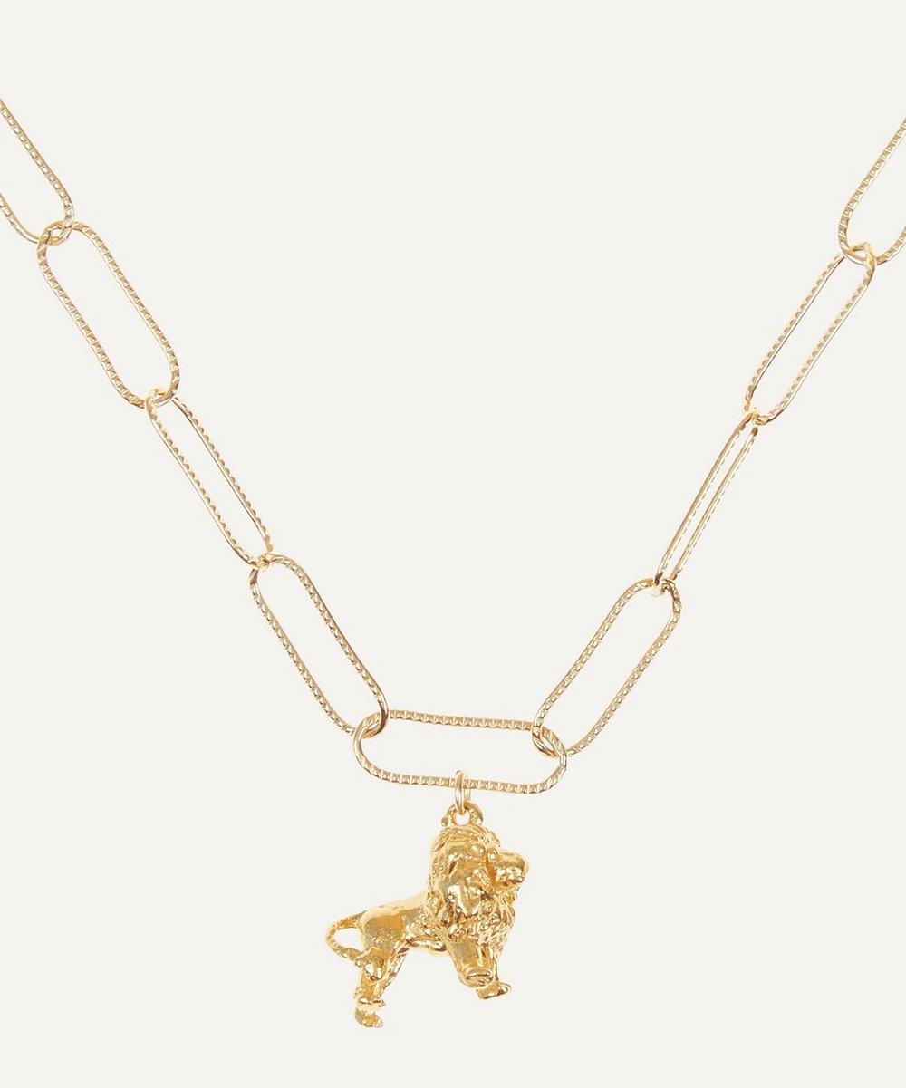 Alighieri - Gold-Plated Travelling Lion Necklace