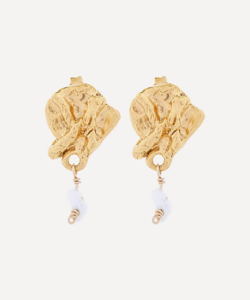 Alighieri - Gold-Plated Streaming Pearl Earrings