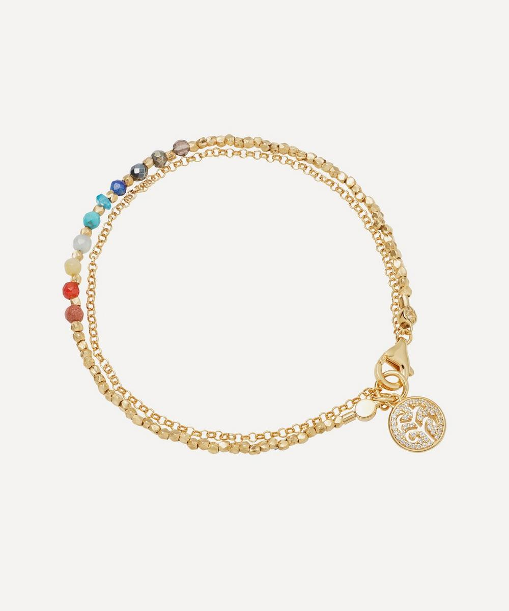 Astley Clarke - Gold Plated Vermeil Silver Tree of Life Rainbow Biography Bracelet