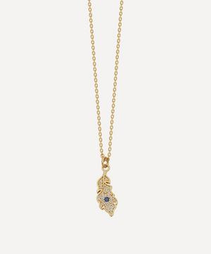 Gold Plated Vermeil Silver Biography White Sapphire Peacock Feather Pendant Necklace