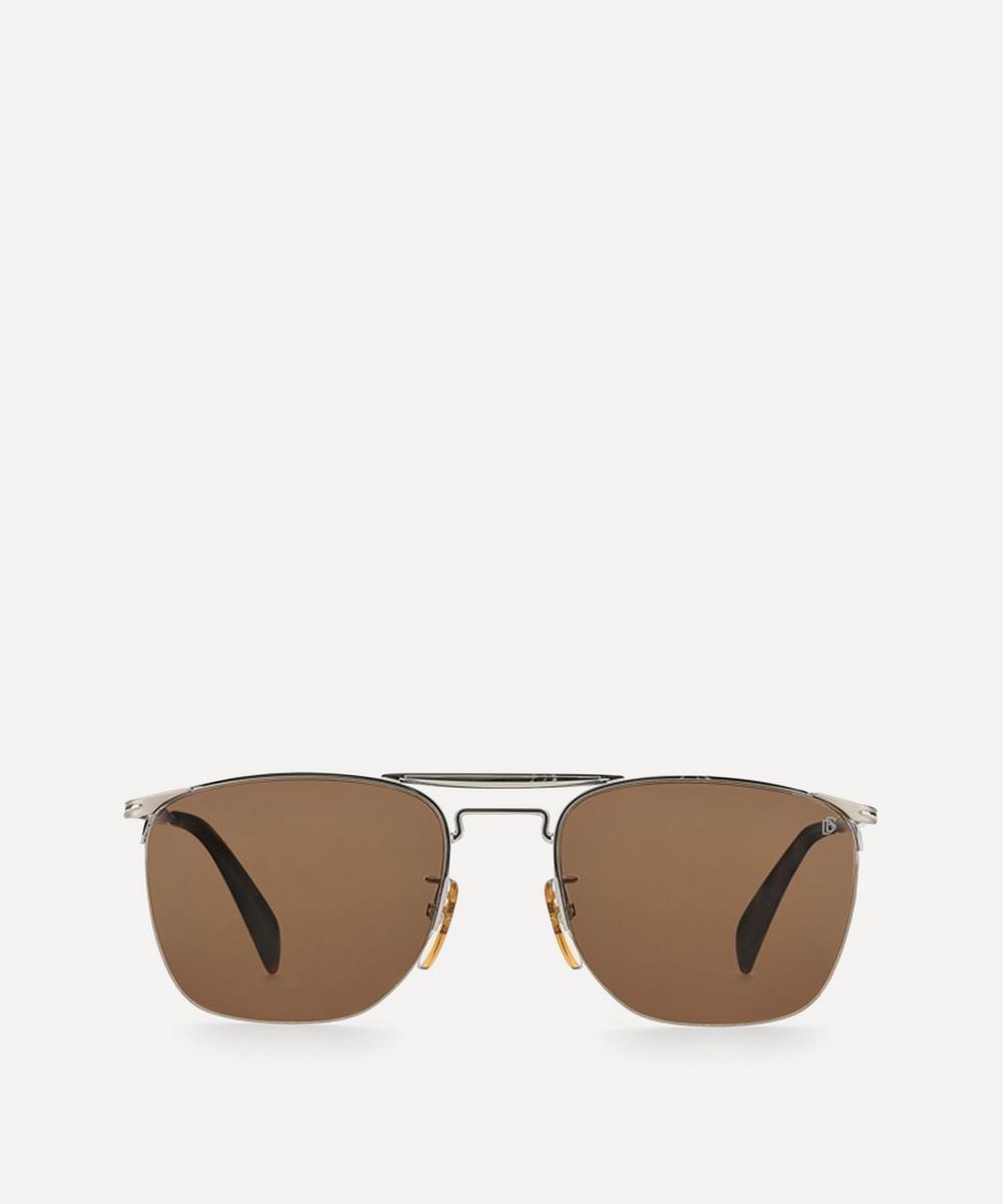 Eyewear by David Beckham - Double Bridge Square-Frame Metal Sunglasses