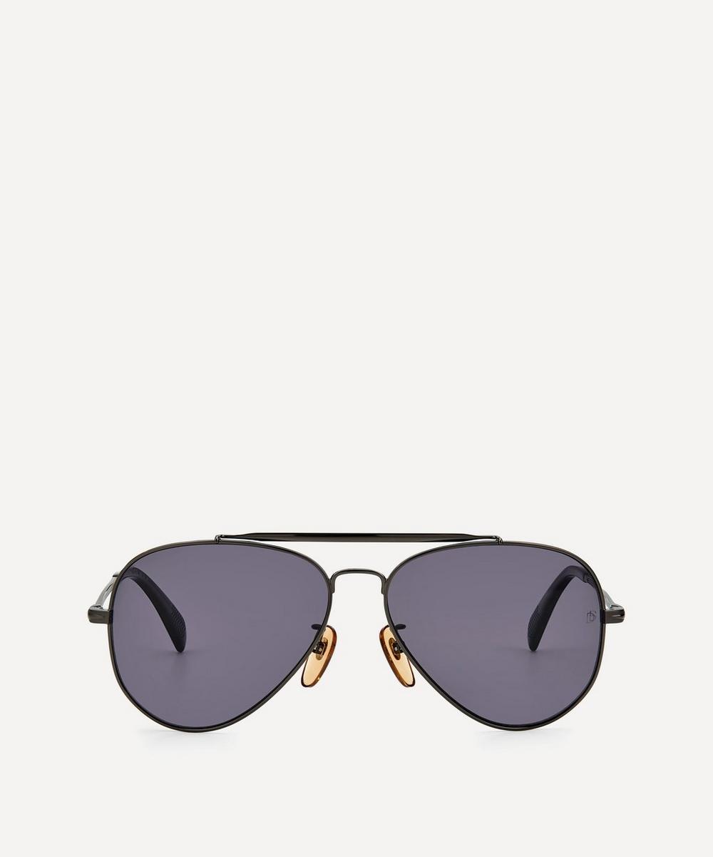 Eyewear by David Beckham - Aviator Metal Sunglasses