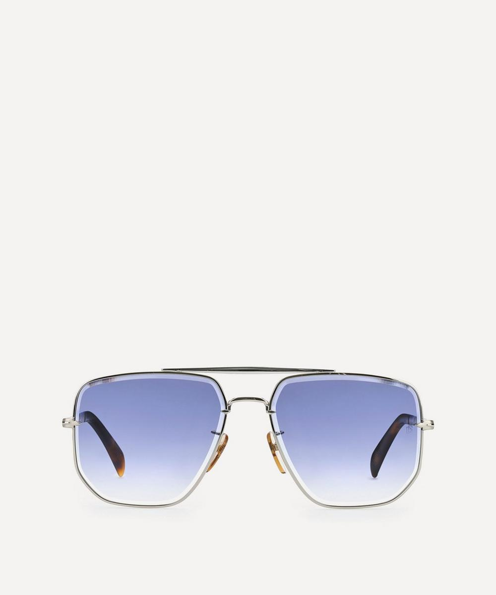 Eyewear by David Beckham - Square Aviator Metal Sunglasses