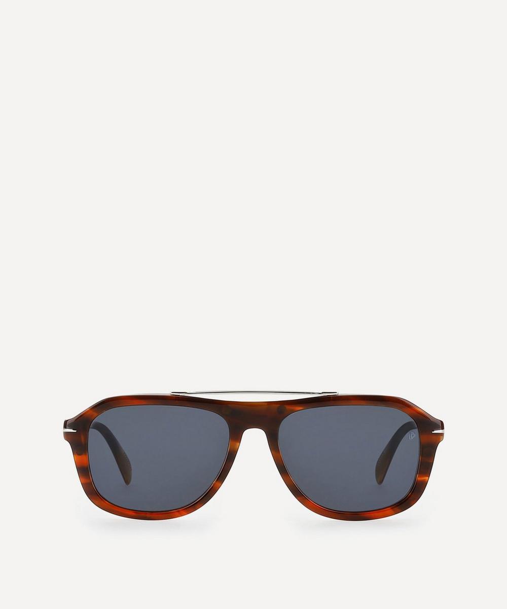 Eyewear by David Beckham - Rectangular Clip-On Acetate Sunglasses