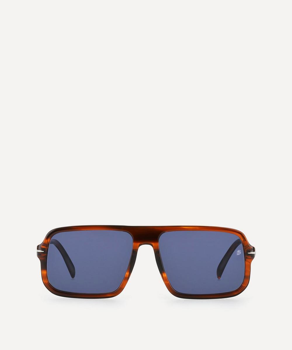 Eyewear by David Beckham - Oversized Flat-Top Acetate Sunglasses