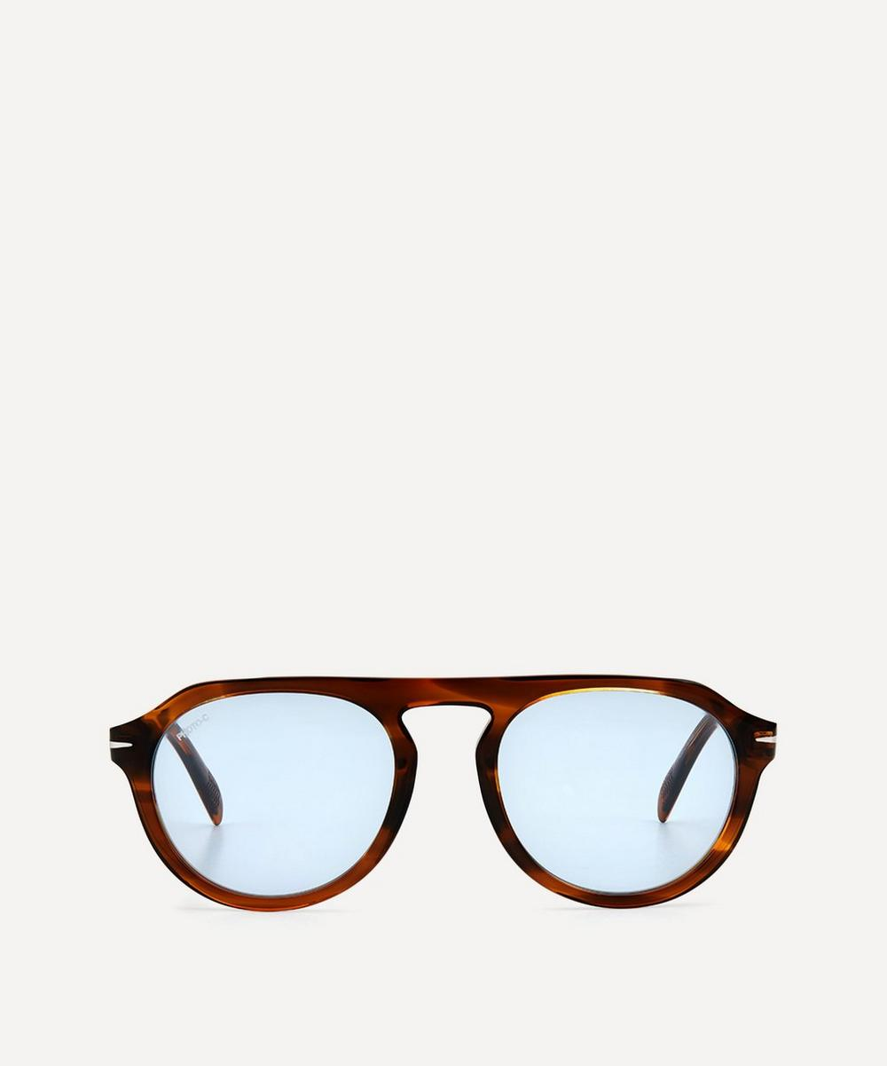 Eyewear by David Beckham - Round Flat-Top Acetate Sunglasses