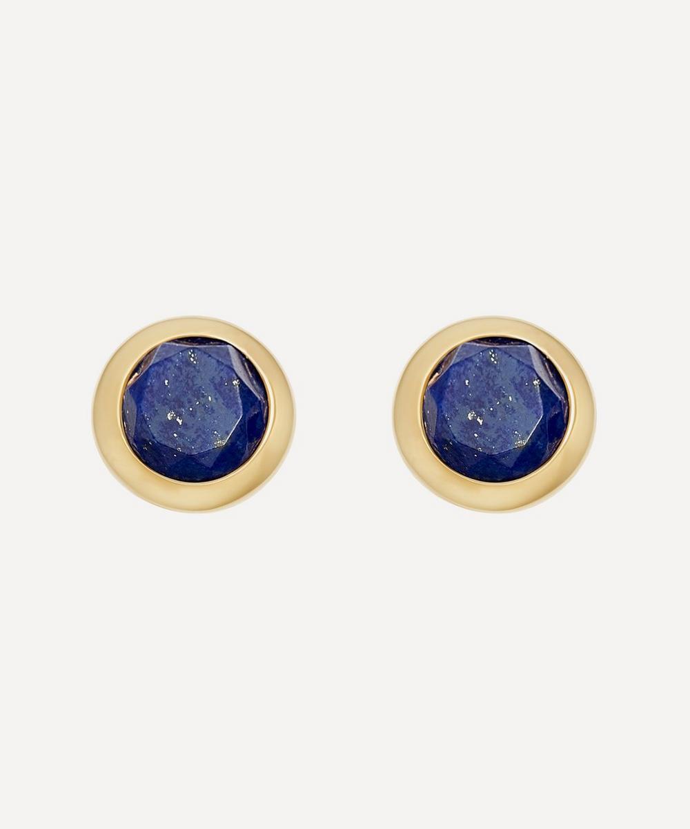 Astley Clarke - Gold Plated Vermeil Silver Mini Stilla Lapis Lazuli Stud Earrings