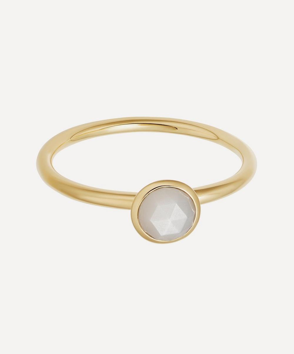 Astley Clarke - Gold Plated Vermeil Silver Mini Stilla Moonstone Ring