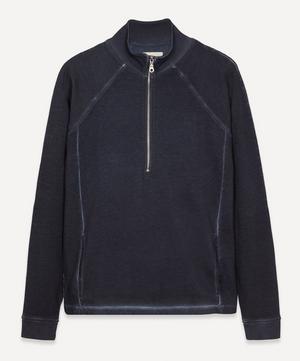 Cold Dye Rivet Funnel Sweater