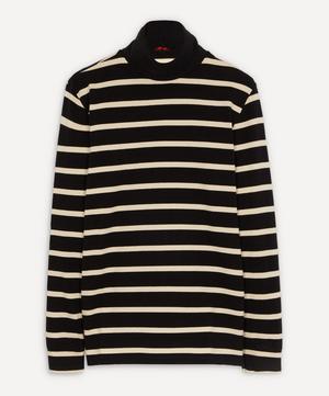 Baglio Stripe Cotton Polo-Neck