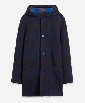 Beat Generation Check Wool Duffle Coat