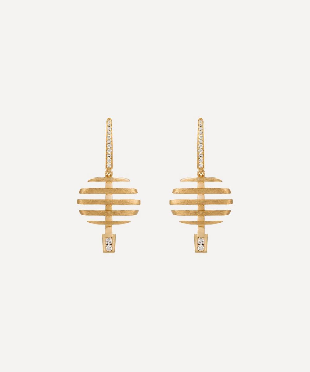 Annoushka - 18ct Gold Garden Party Small Diamond Drop Earrings