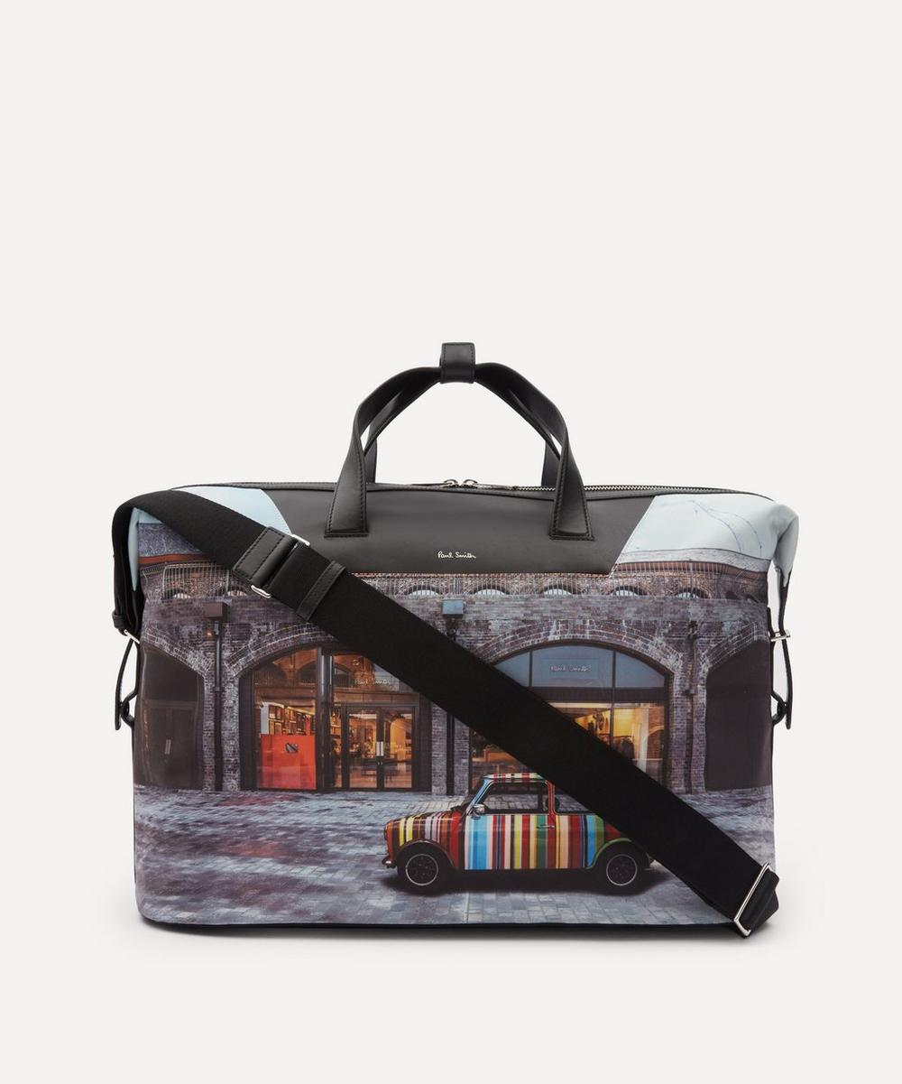 Paul Smith - Mini Kings Cross Print Canvas Holdall