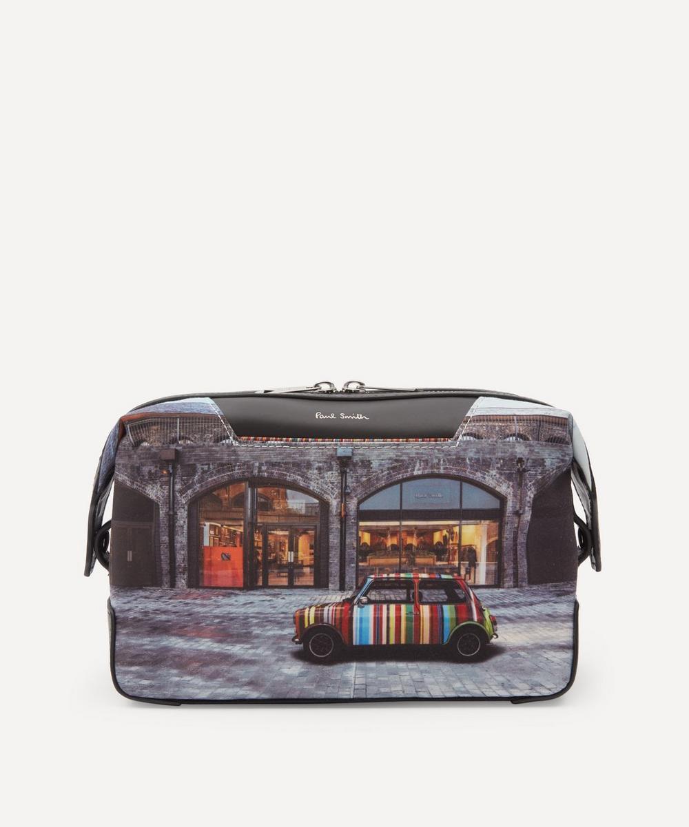 Paul Smith - Mini Kings Cross Print Canvas Wash Bag