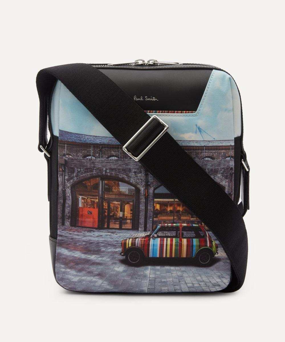 Paul Smith - Mini Kings Cross Print Canvas Flight Bag