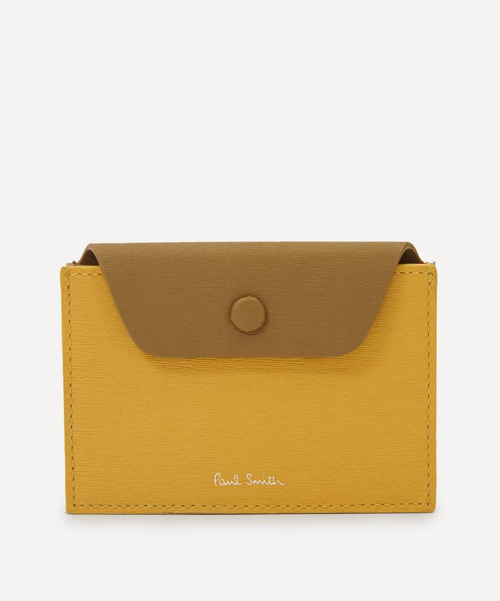 Paul Smith - Snap Button Colour Block Leather Card Holder