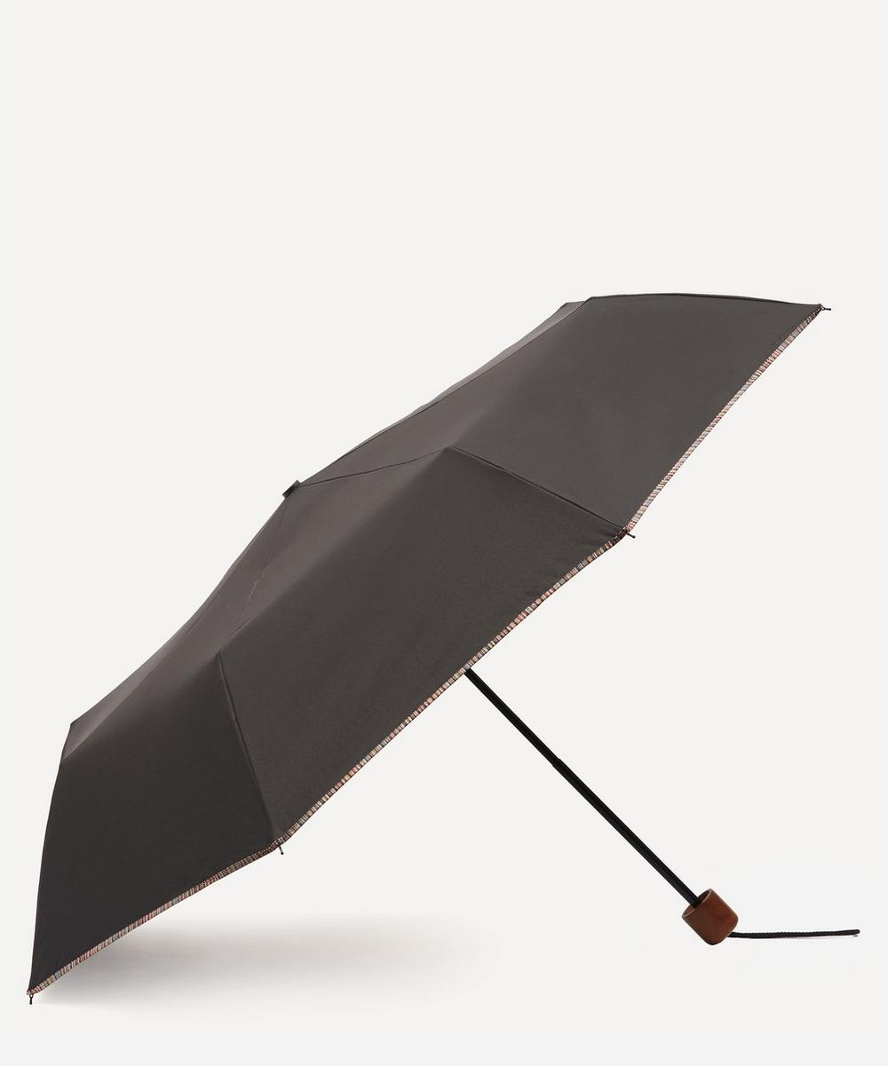 Paul Smith - Signature Stripe Trim Telescopic Umbrella