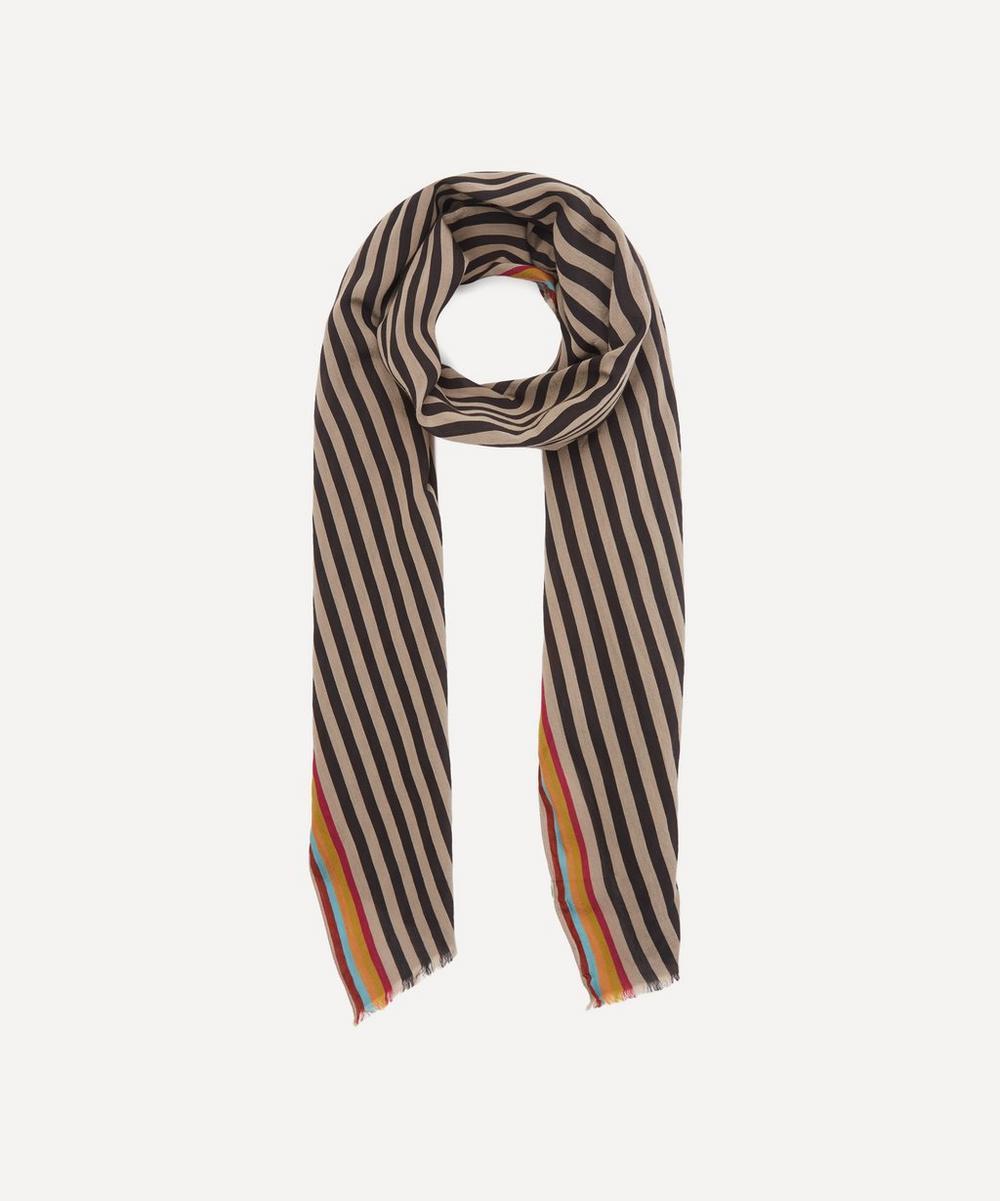 PS Paul Smith - Bold Stripe Silk-Blend Scarf