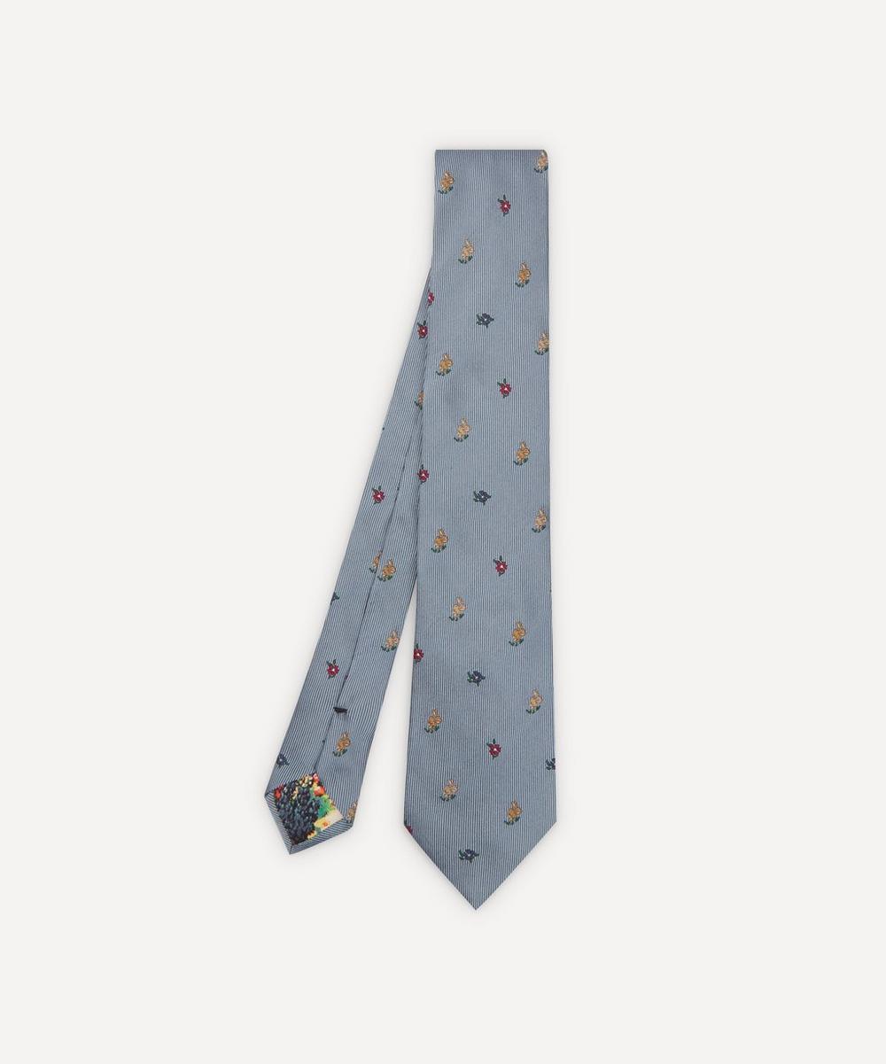 Paul Smith - Rabbit Floral Silk Tie
