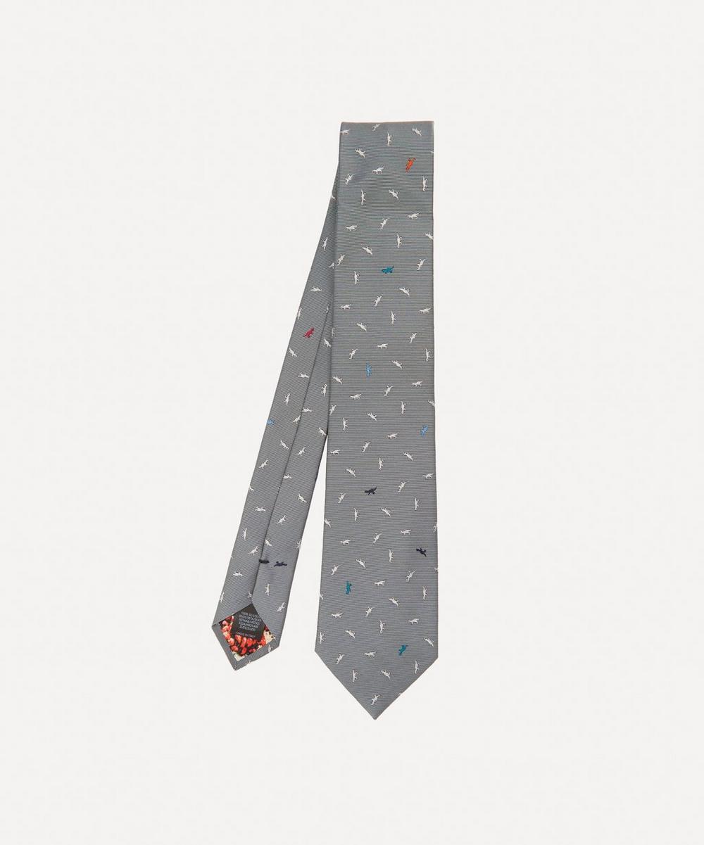 Paul Smith - Dinosaur Motif Silk Tie