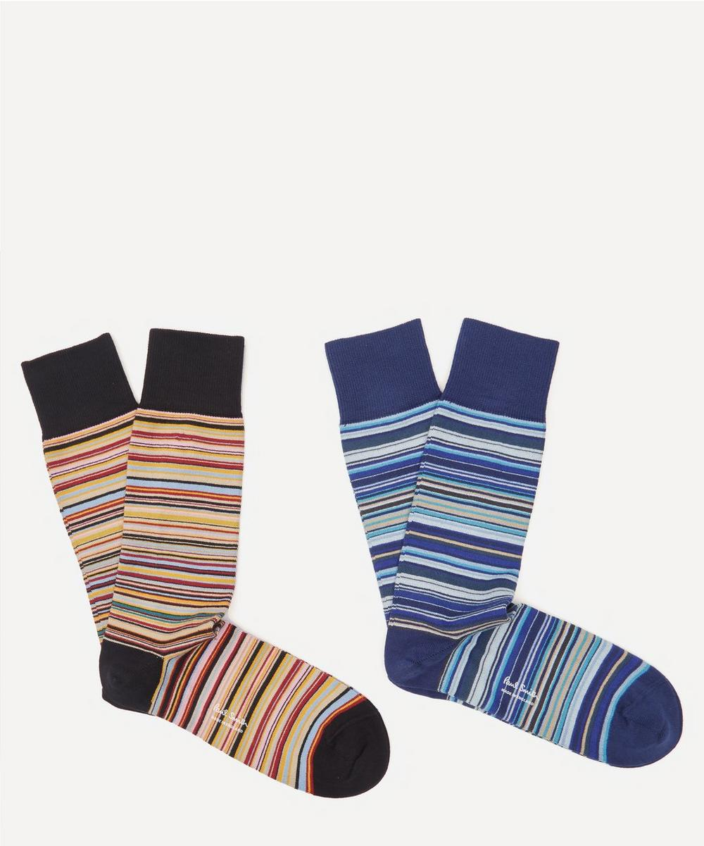 Paul Smith - Signature Stripe Socks Pack of Two