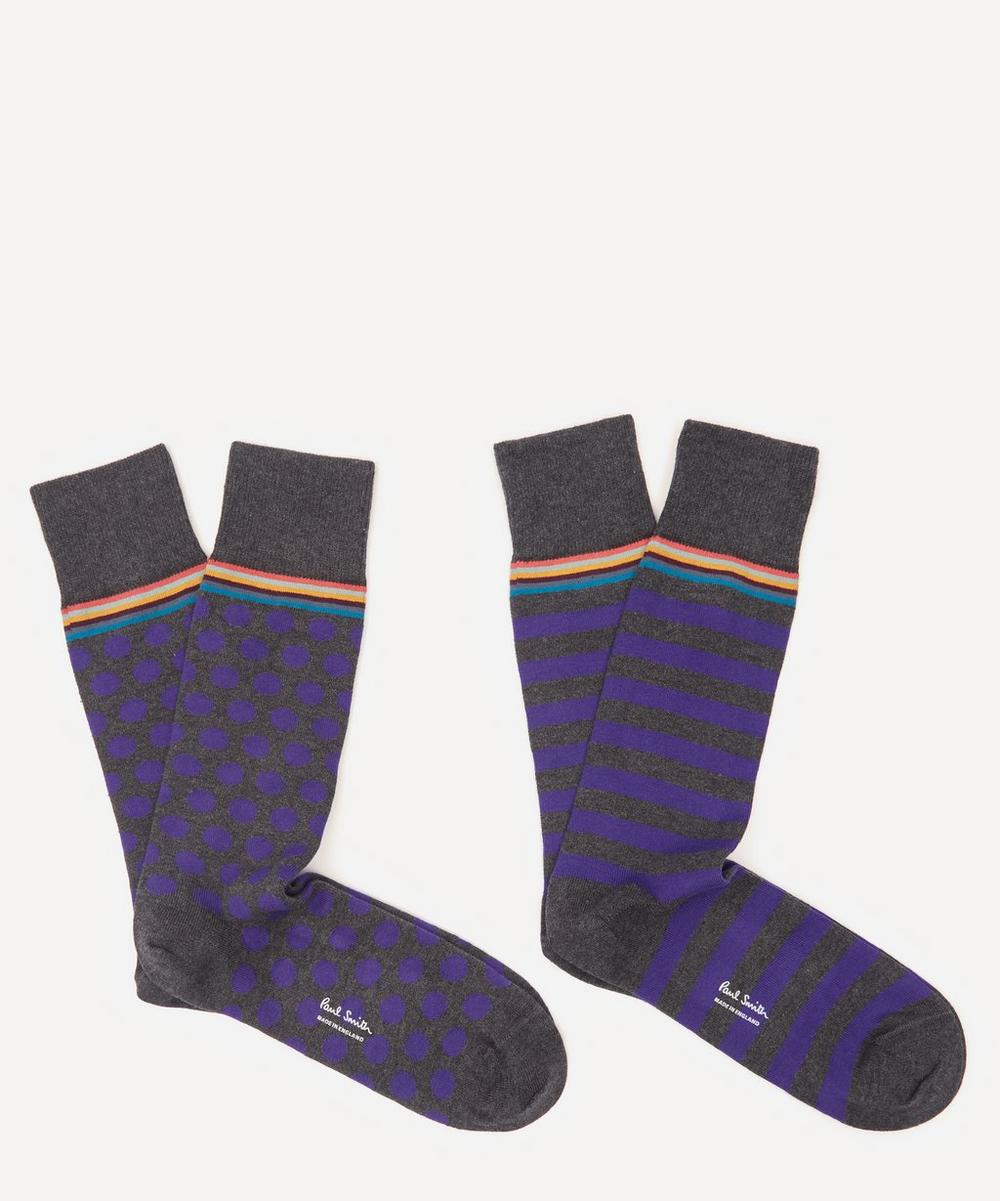 Paul Smith - Stripe and Dot Socks Pack of Two