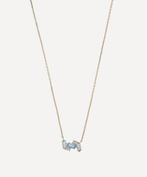 Gold Multi-Stone Mini Baguette Bar Pendant Necklace