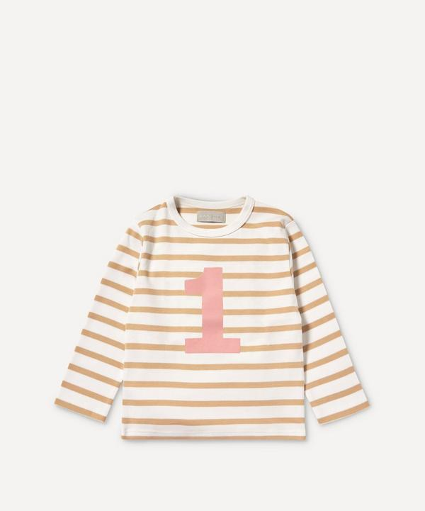 Bob & Blossom - Breton Stripe Number 1 T-Shirt 1-2 Years