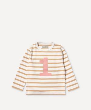 Breton Stripe Number 1 T-Shirt 1-2 Years