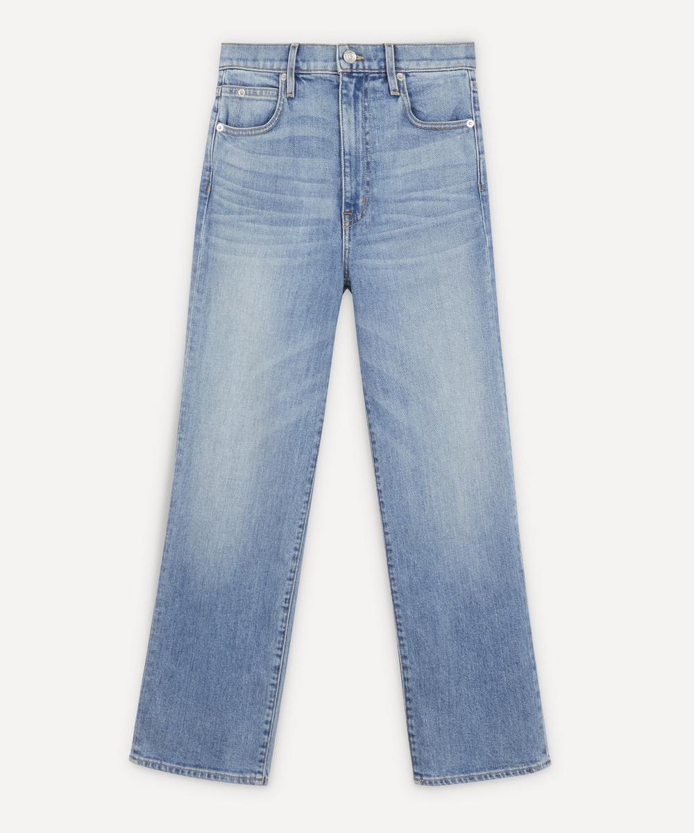SLVRLAKE - London High-Rise Straight Leg Cropped Jeans