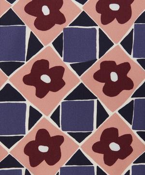 Floral Terrazzo Silk Satin