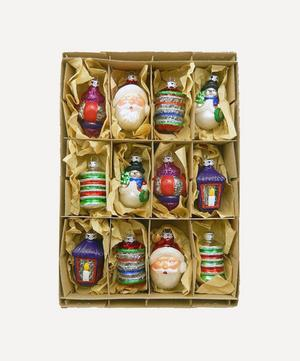 Christmas Figures Tree Decorations Box of 12