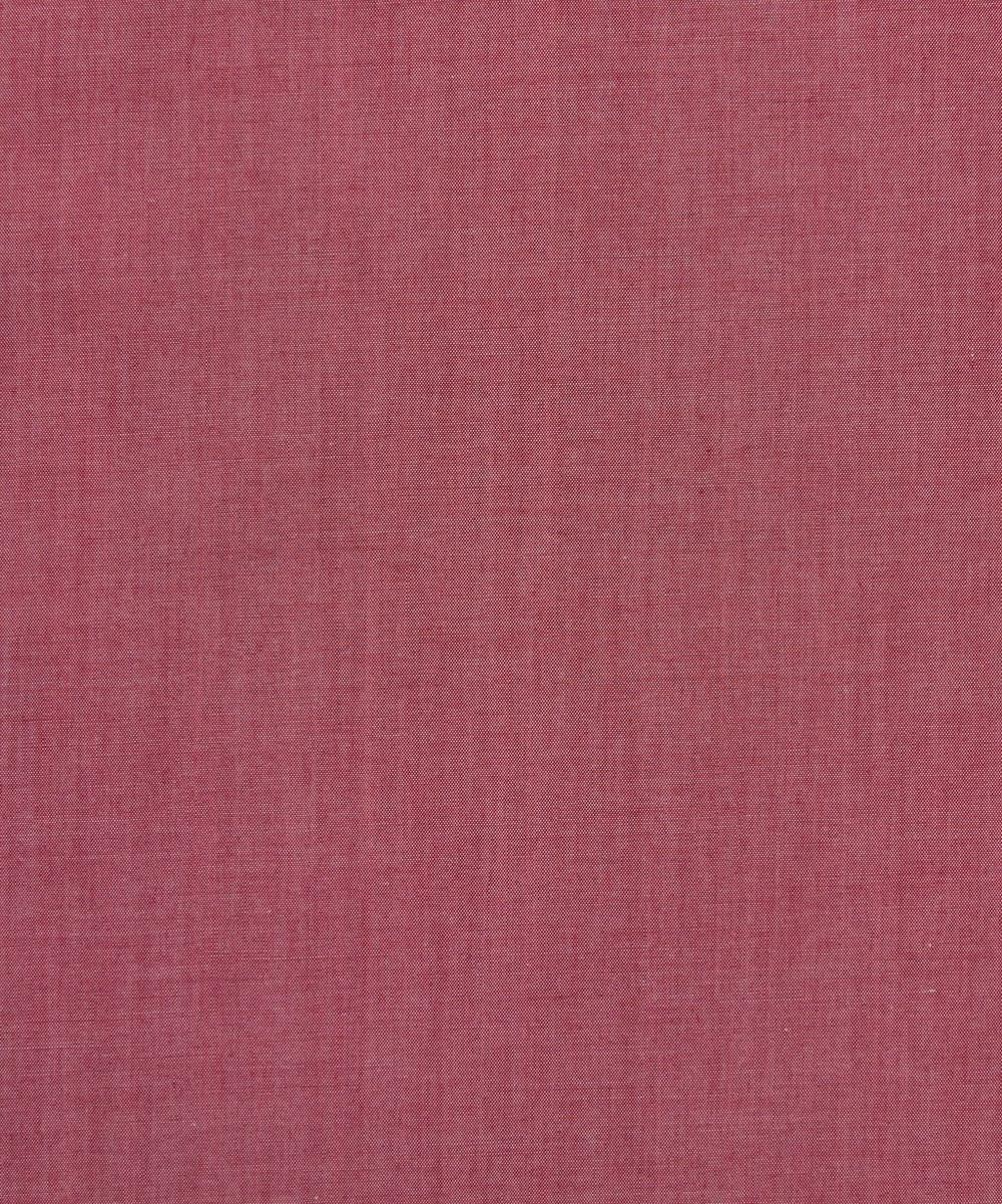 Liberty Fabrics - Red Plain Chambray
