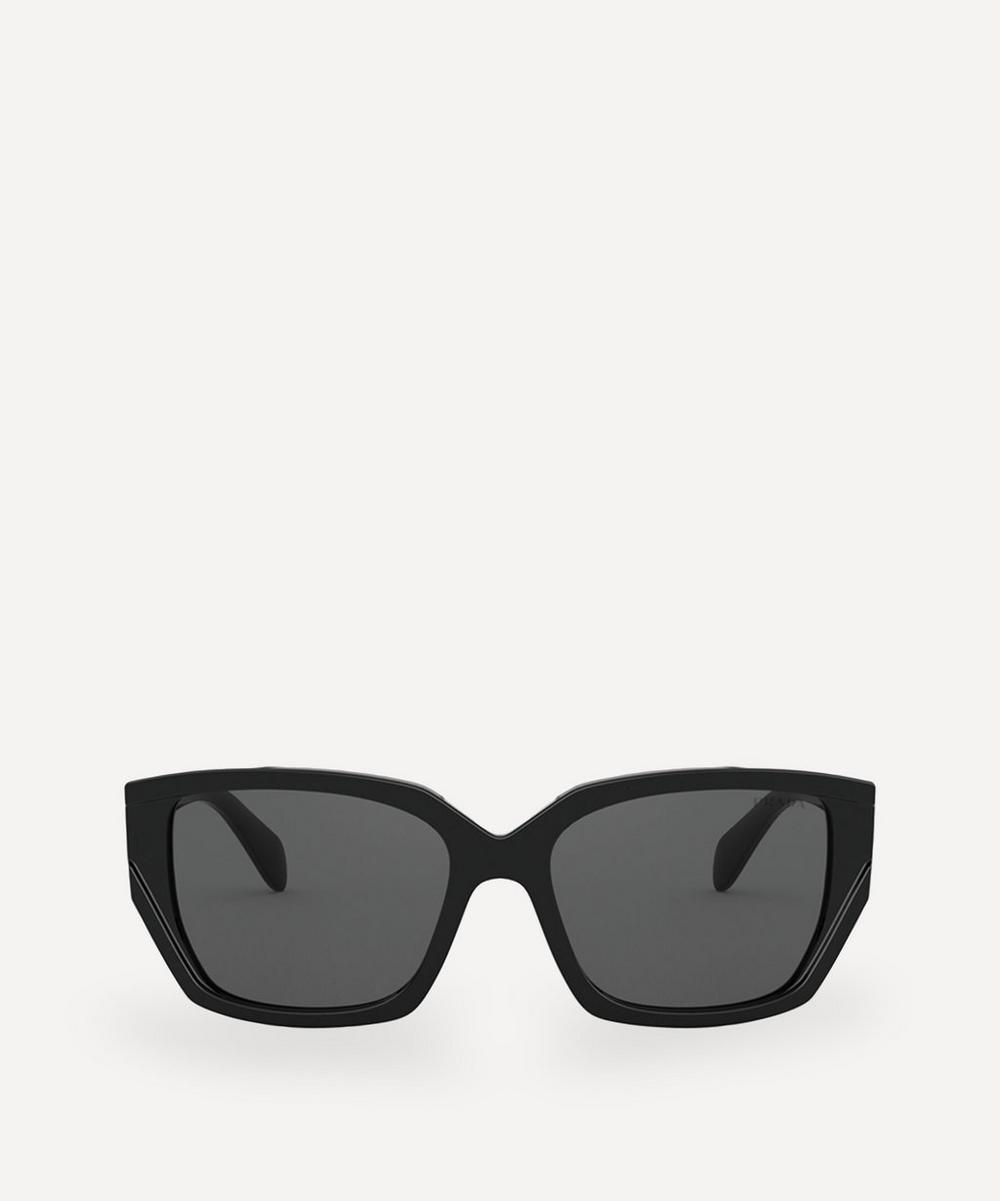 Prada - Rectangular Acetate Sunglasses