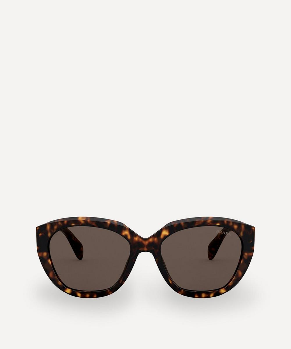 Prada - Rounded Acetate Sunglasses