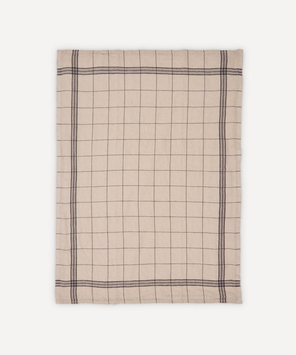 Charvet Editions - Essuie Verres Moka Washed Linen Tea Towel