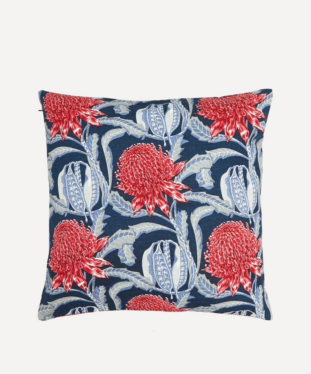 Utopia Goods - Waratah Heritage Linen Cushion Cover