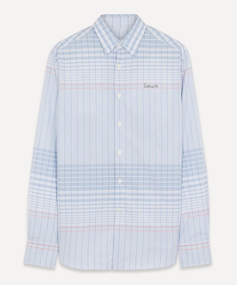 Lanvin - Striped Logo Embroidered Shirt