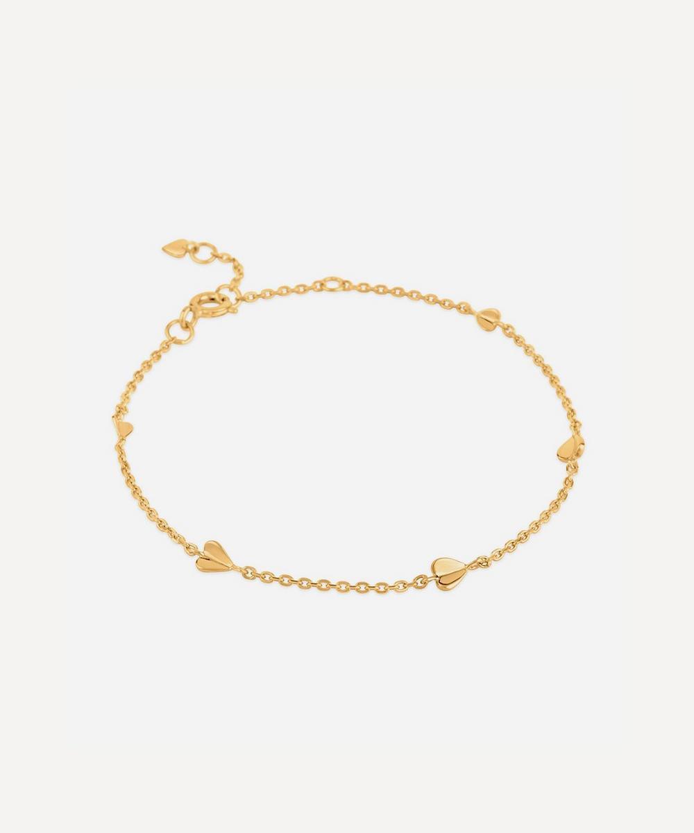 Dinny Hall - Gold Plated Vermeil Silver Bijou Folded Heart Bracelet