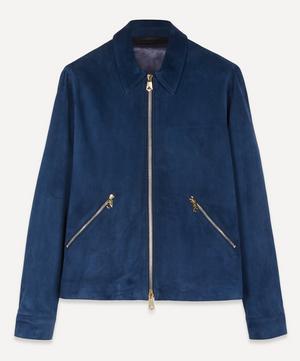 Suede Zip-Up Jacket