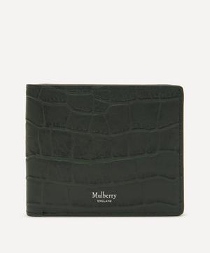 Eight Card Matte Croc Leather Wallet