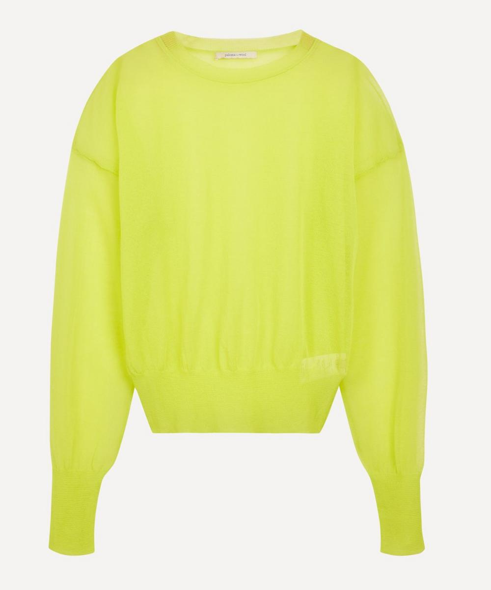 Paloma Wool - Leds See-Through Puff-Sleeve Sweater