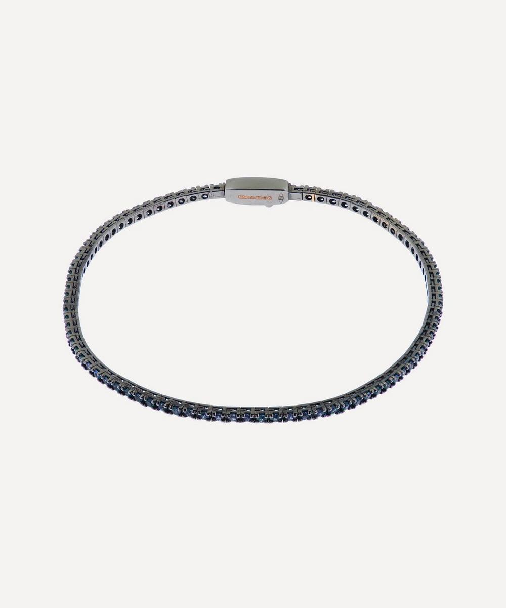 Liberty - Rhodium-Plated Rose Gold Blue Sapphire Tennis Bracelet