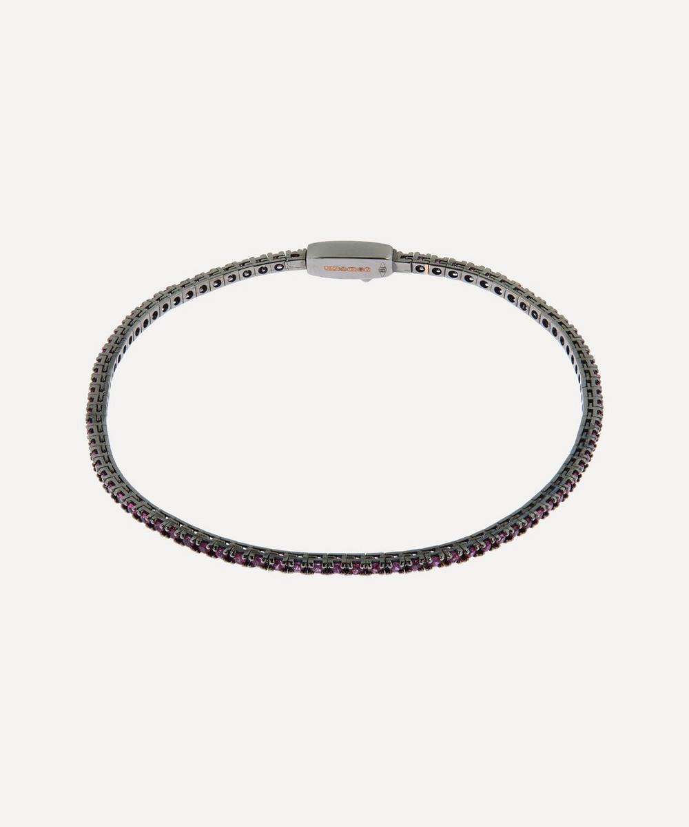 Liberty - Rhodium-Plated Rose Gold Pink Sapphire Tennis Bracelet